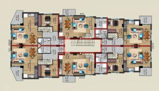 Gloednieuwe woning in een complex met zwembad in Antalya, Vloer Plannen-2