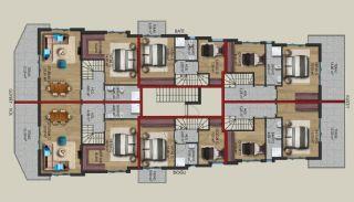 Gloednieuwe woning in een complex met zwembad in Antalya, Vloer Plannen-3