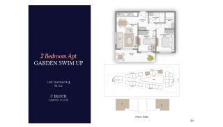 Резиденции в Алании в Комплексе с Бассейном и Садом, Планировка -3