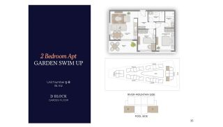 Резиденции в Алании в Комплексе с Бассейном и Садом, Планировка -9