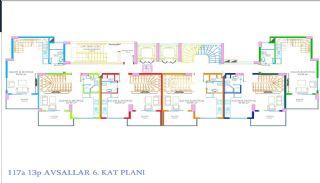 Nya Alanya Apartments med havsutsikt i Avsallar, Planritningar-1