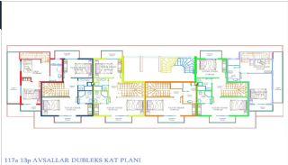 Nya Alanya Apartments med havsutsikt i Avsallar, Planritningar-2