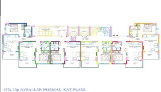 Nya Alanya Apartments med havsutsikt i Avsallar, Planritningar-3