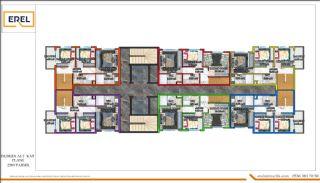 Alanya'da Denize 250 mt Mesafede Modern Tasarımlı Daireler, Kat Planları-3