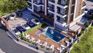 Samtida lägenheter i ett komplex med pool i Alanya, Alanya / Oba - video