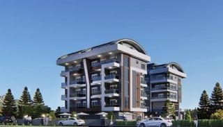 Samtida lägenheter i ett komplex med pool i Alanya, Alanya / Oba