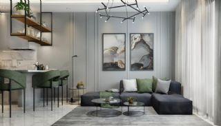 Samtida lägenheter i ett komplex med pool i Alanya, Interiör bilder-1