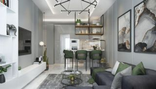 Samtida lägenheter i ett komplex med pool i Alanya, Interiör bilder-2