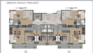Samtida lägenheter i ett komplex med pool i Alanya, Planritningar-2