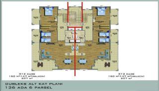 Ultra Luxury Flats in Alanya Avsallar Close to the Beach, Property Plans-1
