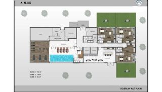 Alanya Real Estate in Complex with Indoor and Outdoor Pools, Property Plans-2