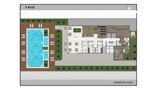 Alanya Real Estate in Complex with Indoor and Outdoor Pools, Property Plans-4