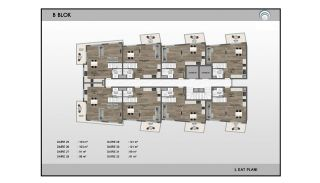 Alanya Real Estate in Complex with Indoor and Outdoor Pools, Property Plans-5