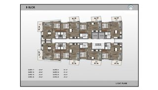 Alanya Real Estate in Complex with Indoor and Outdoor Pools, Property Plans-7