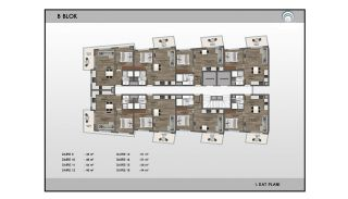 Alanya Real Estate in Complex with Indoor and Outdoor Pools, Property Plans-8