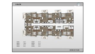 Alanya Real Estate in Complex with Indoor and Outdoor Pools, Property Plans-9