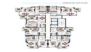 Роскошные Квартиры у Моря в Алании в Центре Кестеля, Планировка -1