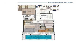 Роскошные Квартиры у Моря в Алании в Центре Кестеля, Планировка -3