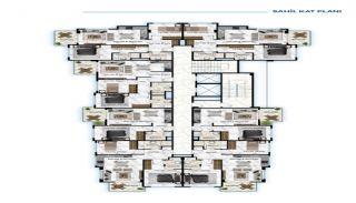 Роскошные Квартиры у Моря в Алании в Центре Кестеля, Планировка -4