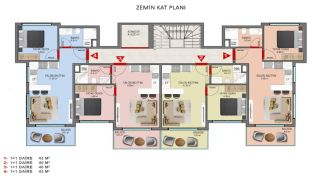 Investment Properties in Alanya Close to the Beach, Property Plans-1