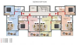 Investment Properties in Alanya Close to the Beach, Property Plans-4