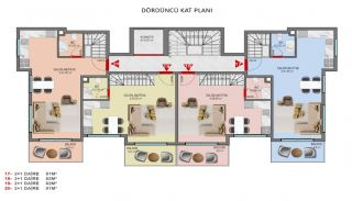 Investment Properties in Alanya Close to the Beach, Property Plans-5