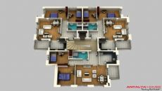 Kolay Appartementen, Vloer Plannen-3
