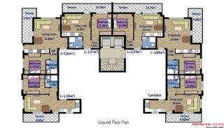 Стильные Квартиры в Коньяалты с Видом на Горы, Планировка -1