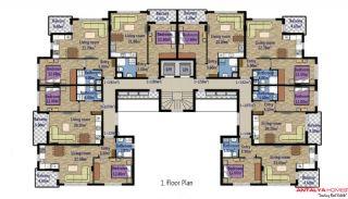 Стильные Квартиры в Коньяалты с Видом на Горы, Планировка -2