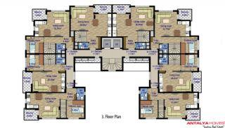 Стильные Квартиры в Коньяалты с Видом на Горы, Планировка -3
