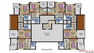 Стильные Квартиры в Коньяалты с Видом на Горы, Планировка -4