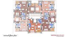 Ali Bileydi Residentie, Vloer Plannen-1