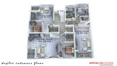 Konyaaltı'nda Eşyalı Komple Satılık Bina, Kat Planları-1