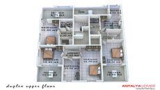 Konyaaltı'nda Eşyalı Komple Satılık Bina, Kat Planları-2