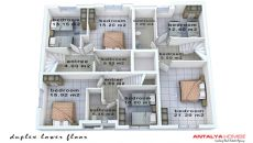 Konyaaltı'nda Eşyalı Komple Satılık Bina, Kat Planları-4