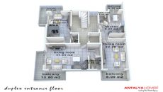 Konyaaltı'nda Eşyalı Komple Satılık Bina, Kat Planları-5