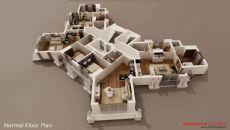Резиденция Оттоман II, Планировка -1