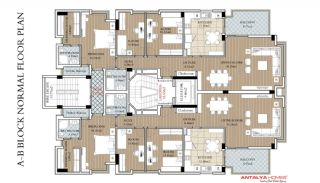 Modern Flats with Heating System in Konyaalti Antalya, Property Plans-1