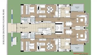 Modern Flats with Heating System in Konyaalti Antalya, Property Plans-2