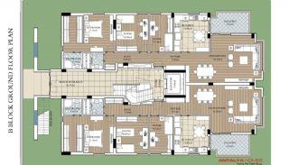 Uncalı'da Site İçinde Kaloriferli Modern Daireler, Kat Planları-2