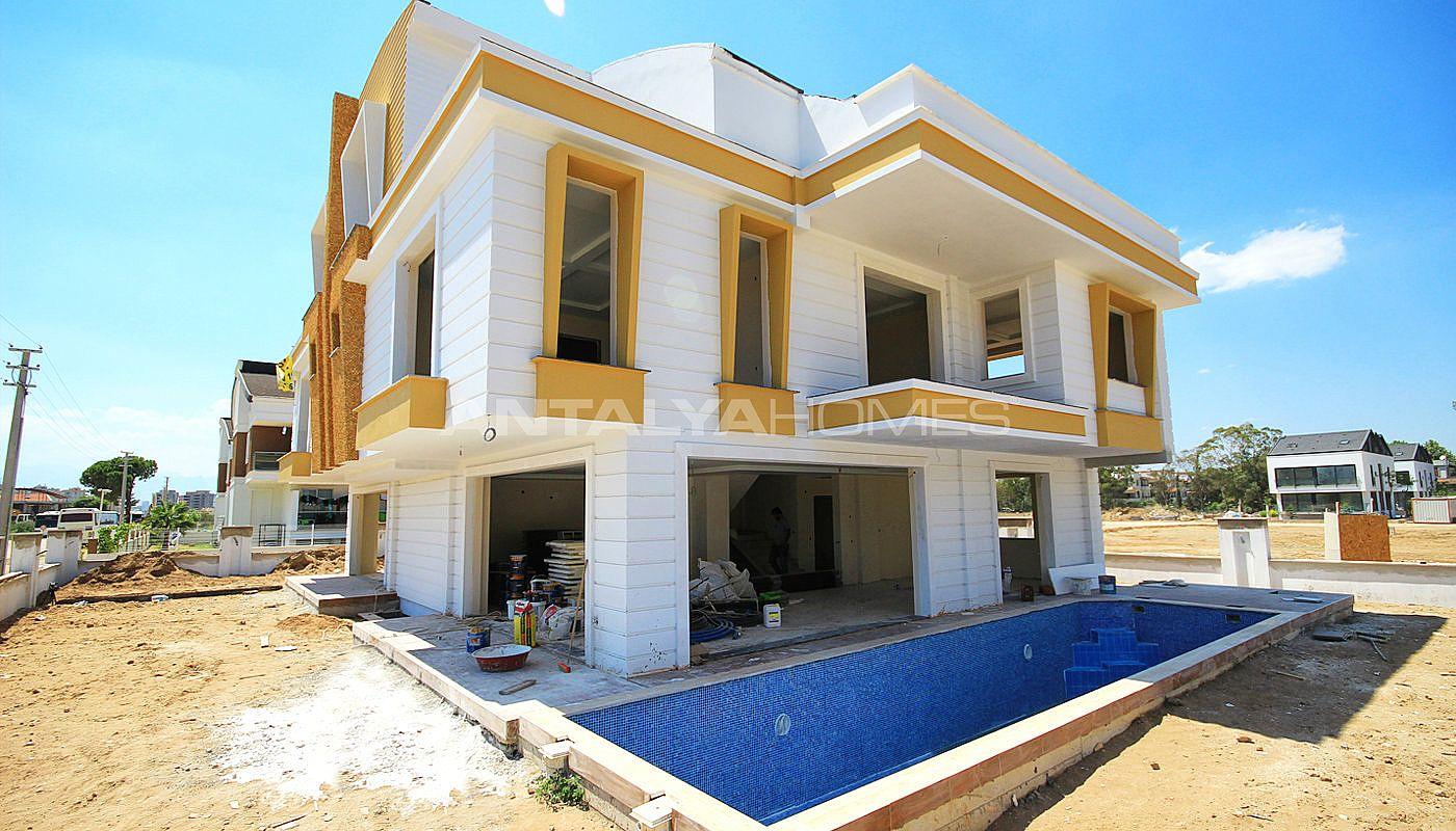 Sonmez villa semi detached villa for sale in antalya for Construction villa