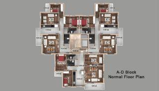 Kepez'de Satılık Evler, Kat Planları-2