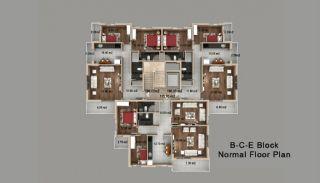 Kepez'de Satılık Evler, Kat Planları-4