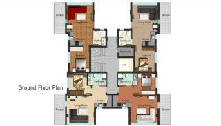 Новая Квартира в Коньяалты, Планировка -1