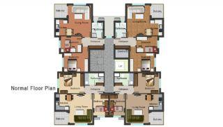 Новая Квартира в Коньяалты, Планировка -2