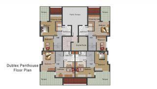 Новая Квартира в Коньяалты, Планировка -4