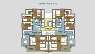 Купить Новую Квартиру в Коньяалты, Планировка -3