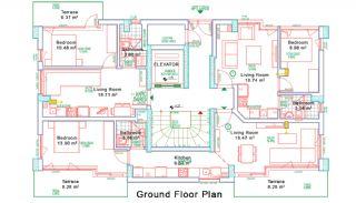 Nybyggda Lägenheter i Antalya Turkiet, Planritningar-3