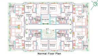 Nybyggda Lägenheter i Antalya Turkiet, Planritningar-4
