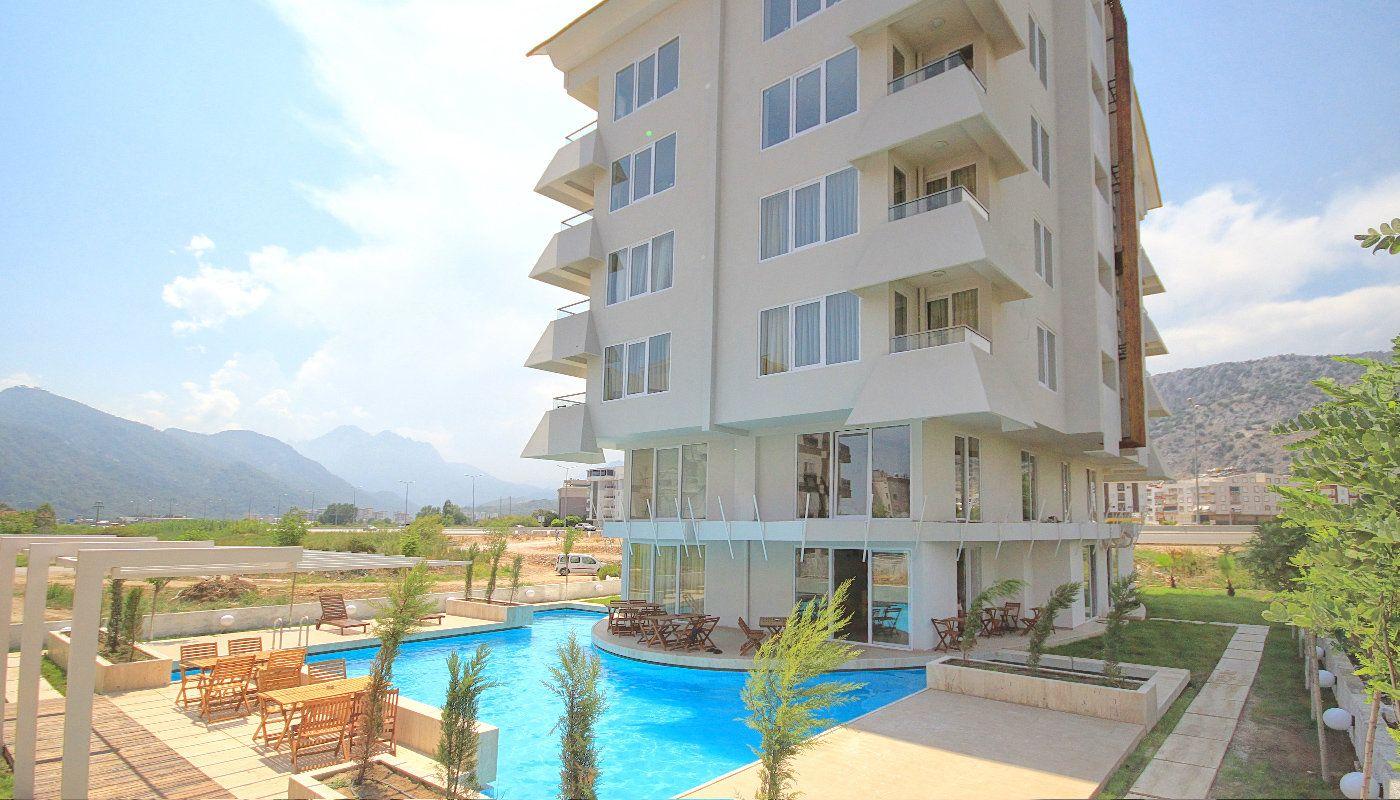 Natuurzicht appartementen in antalya met zonwering